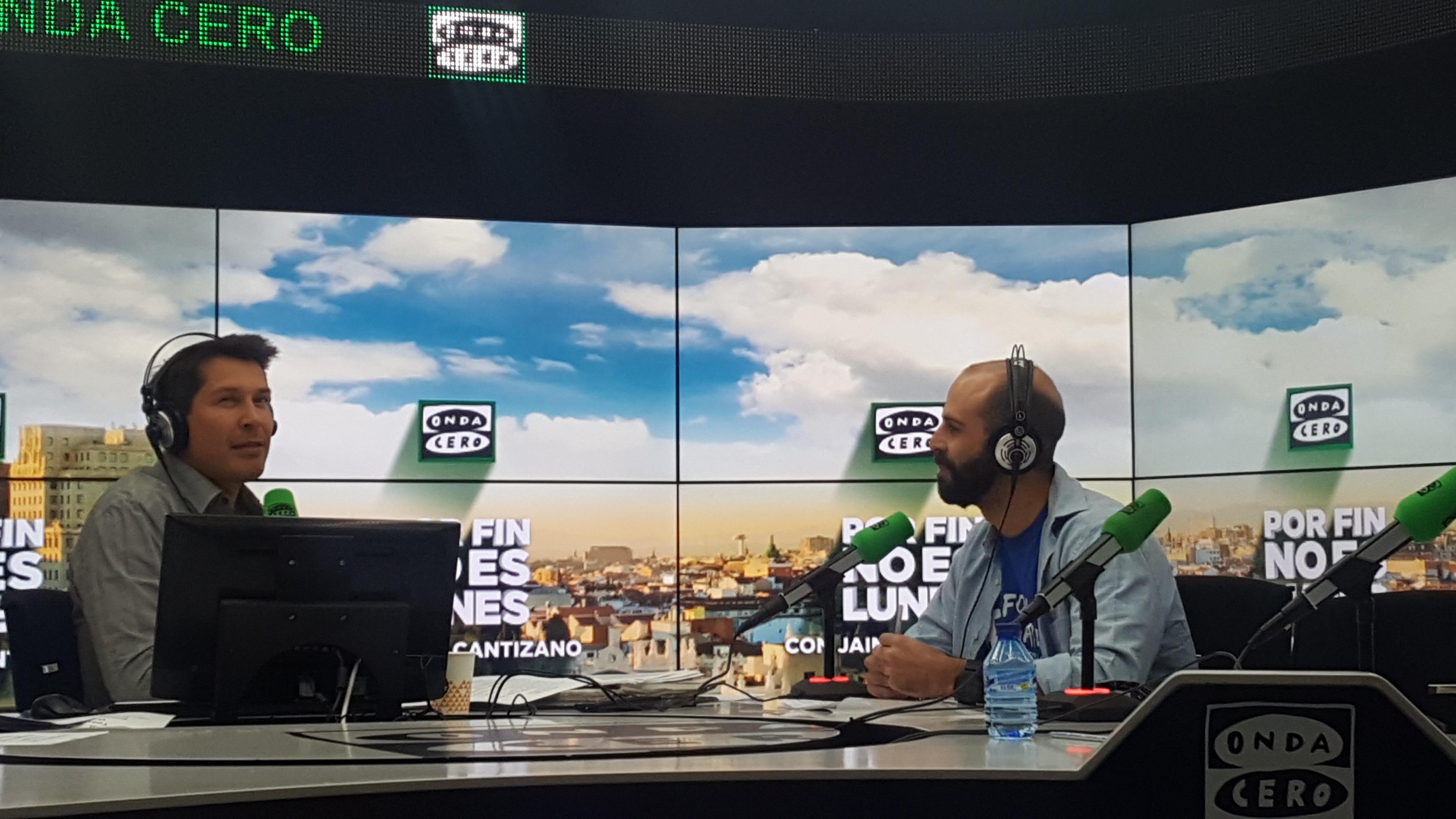 Jaime Cantizano entrevista a Pablo de la Nava para hablar sobre biodiversidad y Life Followers en Por fin no es lunes de Onda Cero Radio
